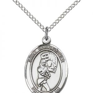 Christopher Softball Medal Medium Sterling Silver 86177