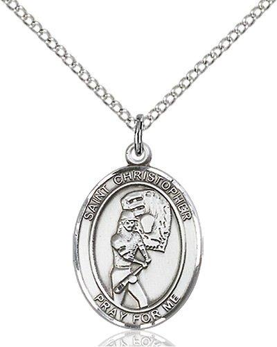 Christopher Softball Medal Medium Sterling Silver 86177
