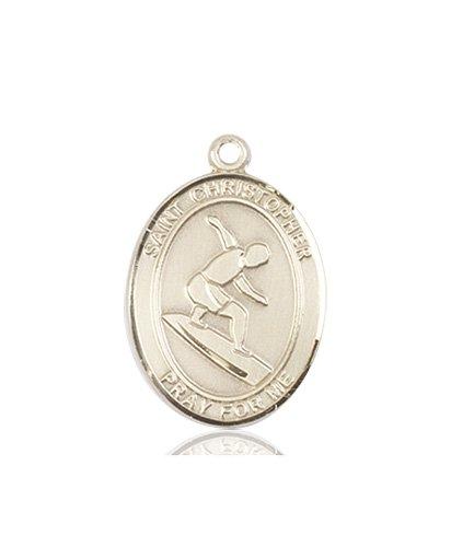 Christopher Surfing Medal Medium 14 Karat Gold 86096