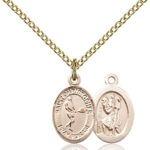Christopher Tennis Medal Charm 14 Karat Gold Filled 86346