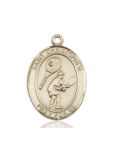 Christopher Tennis Medal Large 14 Karat Gold 85860