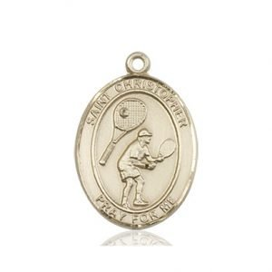 Christopher Tennis Medal Medium 14 Karat Gold 86168