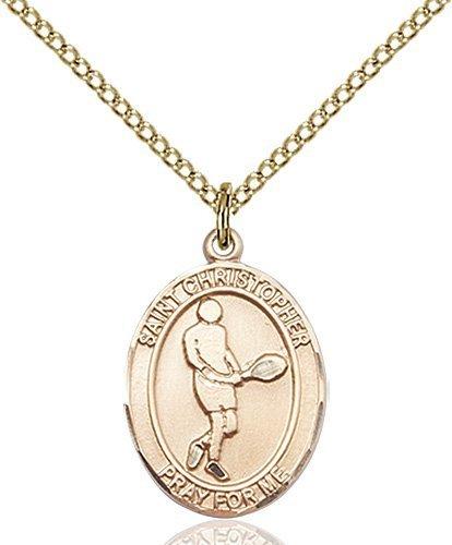 Christopher Tennis Medal Medium 14 Karat Gold Filled 85994