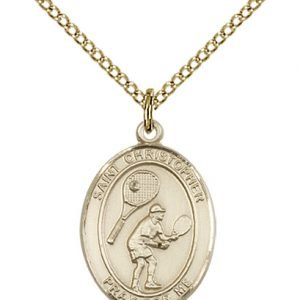 Christopher Tennis Medal Medium 14 Karat Gold Filled 86166