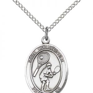 Christopher Tennis Medal Medium Sterling Silver 86169