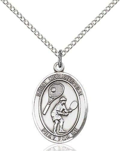Christopher Tennis Medal Medium Sterling Silver 86169