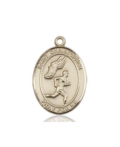 Christopher Track Field Medal Medium 14 Karat Gold 86184