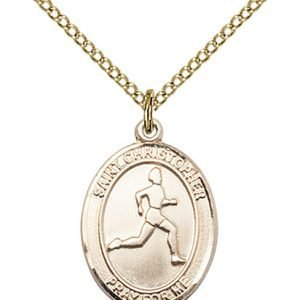 Christopher Track Field Medal Medium 14 Karat Gold Filled 85970