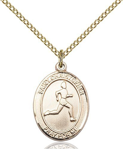 Christopher Track Field Medal Medium 14 Karat Gold Filled 85970