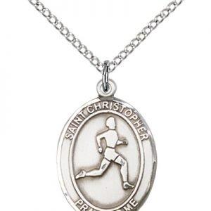 Christopher Track Field Medal Medium Sterling Silver 85973