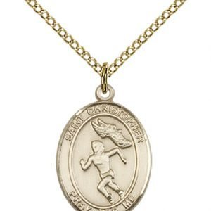 Christopher Track Field Medal Women Medium 14 Karat Gold Filled 86186