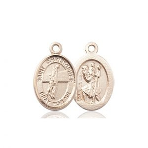 Christopher Volleyball Medal Charm - 14 Karat Gold (#86296)