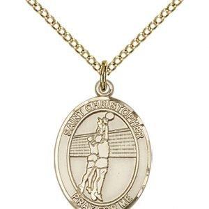 Christopher Volleyball Medal Medium 14 Karat Gold Filled 85942