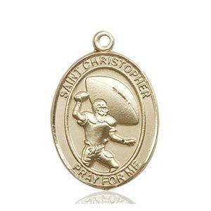 Football Medal Large 14kt Gold 86758