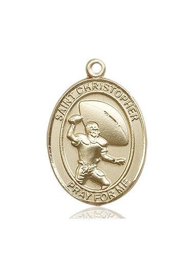 Football Medal Large 14kt Gold 86758