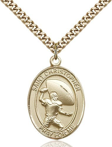Football Medal Large Gold Filled 86756