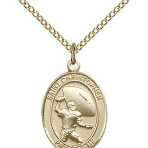 Football Medal Medium 14 Karat Gold Filled 86776