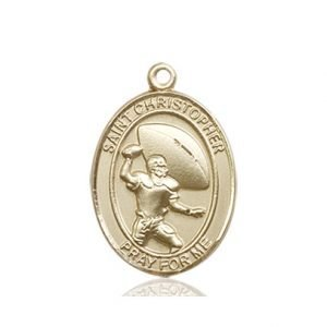 Football Medal Medium - 14kt Gold (#86778)