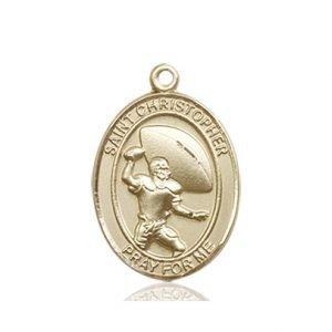 Football Medal Medium - 14kt Gold (#86778)