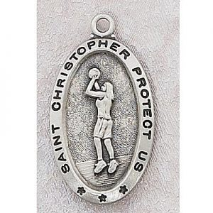 Girls Basketball Medal In Sterling Silver 15155