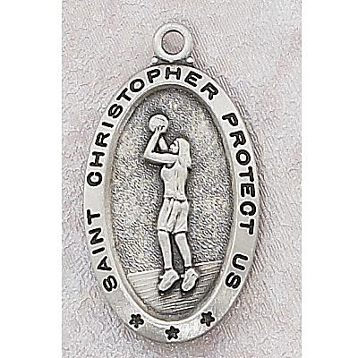 Girls Basketball Medal In Sterling Silver 15155