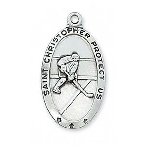 Hockey Medal In Sterling Silver 19075