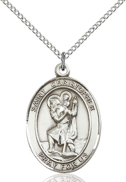 Saint Christopher Sterling Silver Medal (#15529)