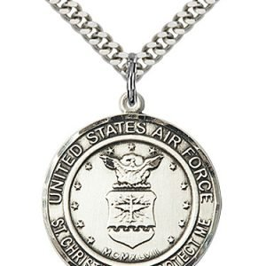 St Christopher Air Force Pendant Sterling Silver 89956