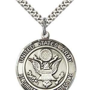 St Christopher Army Pendant Sterling Silver 89957