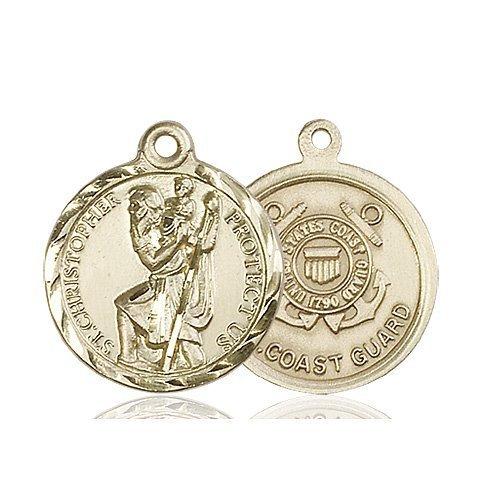 St Christopher Coast Guard Pendant 14 Kt Gold 89680