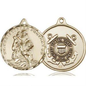 St Christopher Coast Guard Pendant 14 Kt Gold 89736