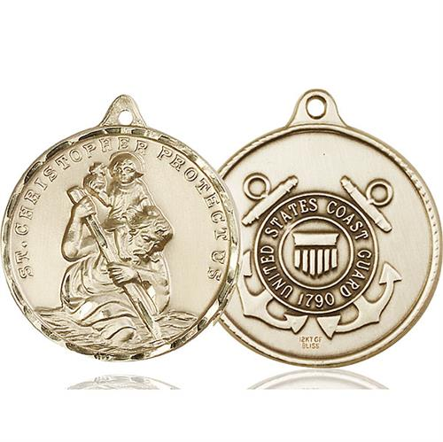 St Christopher Coast Guard Pendant 14 Kt Gold 89736