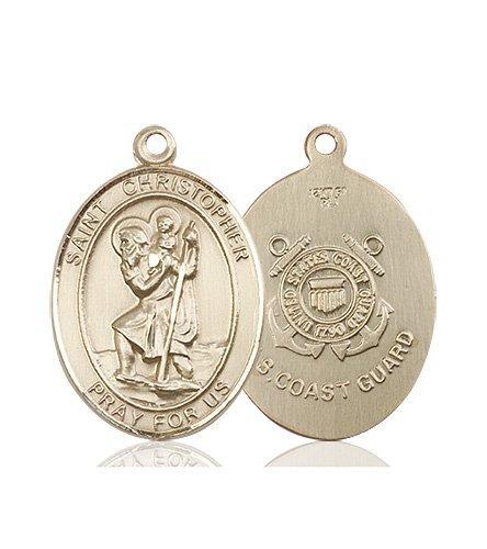 St Christopher Coast Guard Pendant 14 Kt Gold 90157