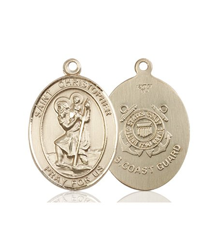 St Christopher Coast Guard Pendant 14 Kt Gold 90265