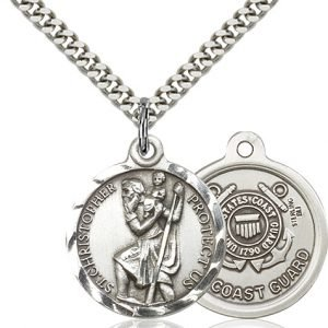 St Christopher Coast Guard Pendant Sterling Silver 89687