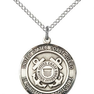 St Christopher Coast Guard Pendant Sterling Silver 89976