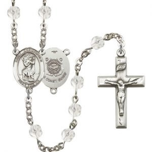 St Christopher-Coast Guard Rosary - Crystal Beads (#R15534)