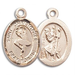 St Christopher Dance Charm - 14 Karat Gold Filled (#M0062)
