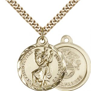 St Christopher Marines Pendant Gold Filled 89674