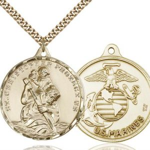 St Christopher Marines Pendant Gold Filled 89731