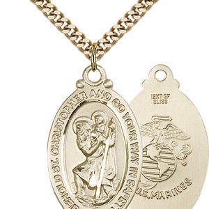 St Christopher Marines Pendant Gold Filled 90049