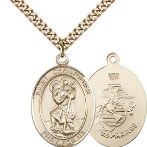 St Christopher Marines Pendant Gold Filled 90151