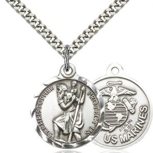 St Christopher Marines Pendant Sterling Silver 89688