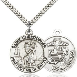 St Christopher Marines Pendant Sterling Silver 89904