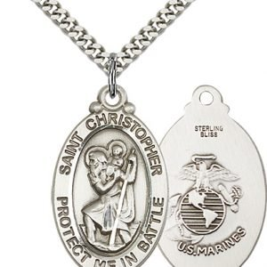 St Christopher Marines Pendant Sterling Silver 89910