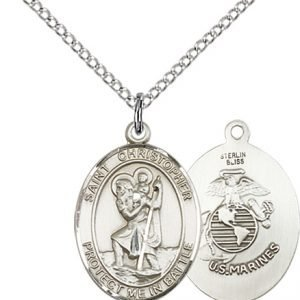 St Christopher Marines Pendant Sterling Silver 89913