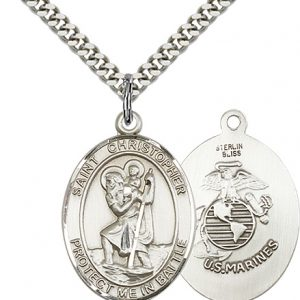 St Christopher Marines Pendant Sterling Silver 89924