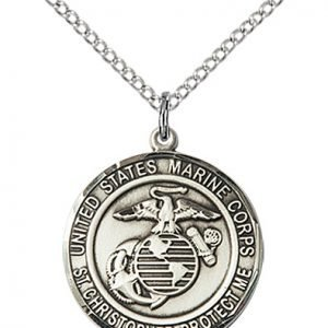 St Christopher Marines Pendant Sterling Silver 89977