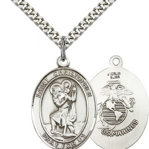 St Christopher Marines Pendant Sterling Silver 90165