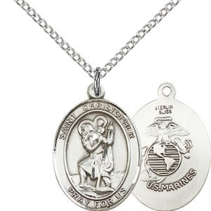 St Christopher Marines Pendant Sterling Silver 90273